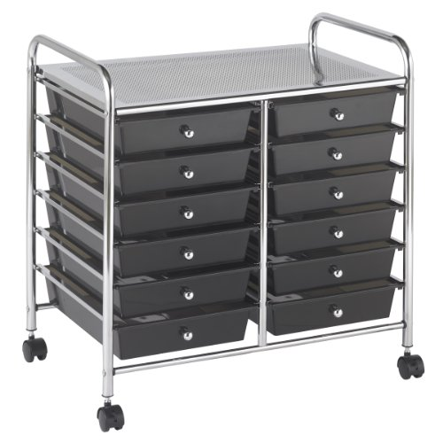 ECR4Kids 12-Drawer Mobile Organizer, 25.75