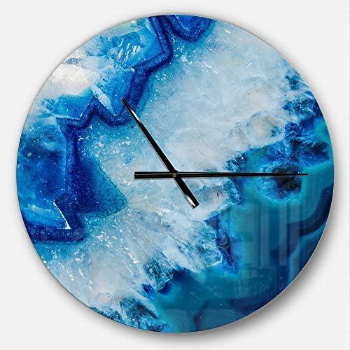 Designart Clm8834 C23 Geode Slice Macro Modern Wall Clock 23x23 Blue Amazon Ca Home Kitchen