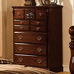 Furniture of America CM7571C Tuscan II Glossy Dark Pine Chest Drawer