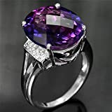 ​3.65ct Woman Charm 925 Silver Ring Alexandrite Wedding Ring Size 6-10 (10)