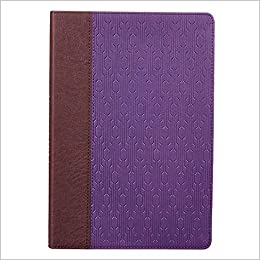 Holy Bible: KJV Large Print Edition: Two-tone Purple / Brown