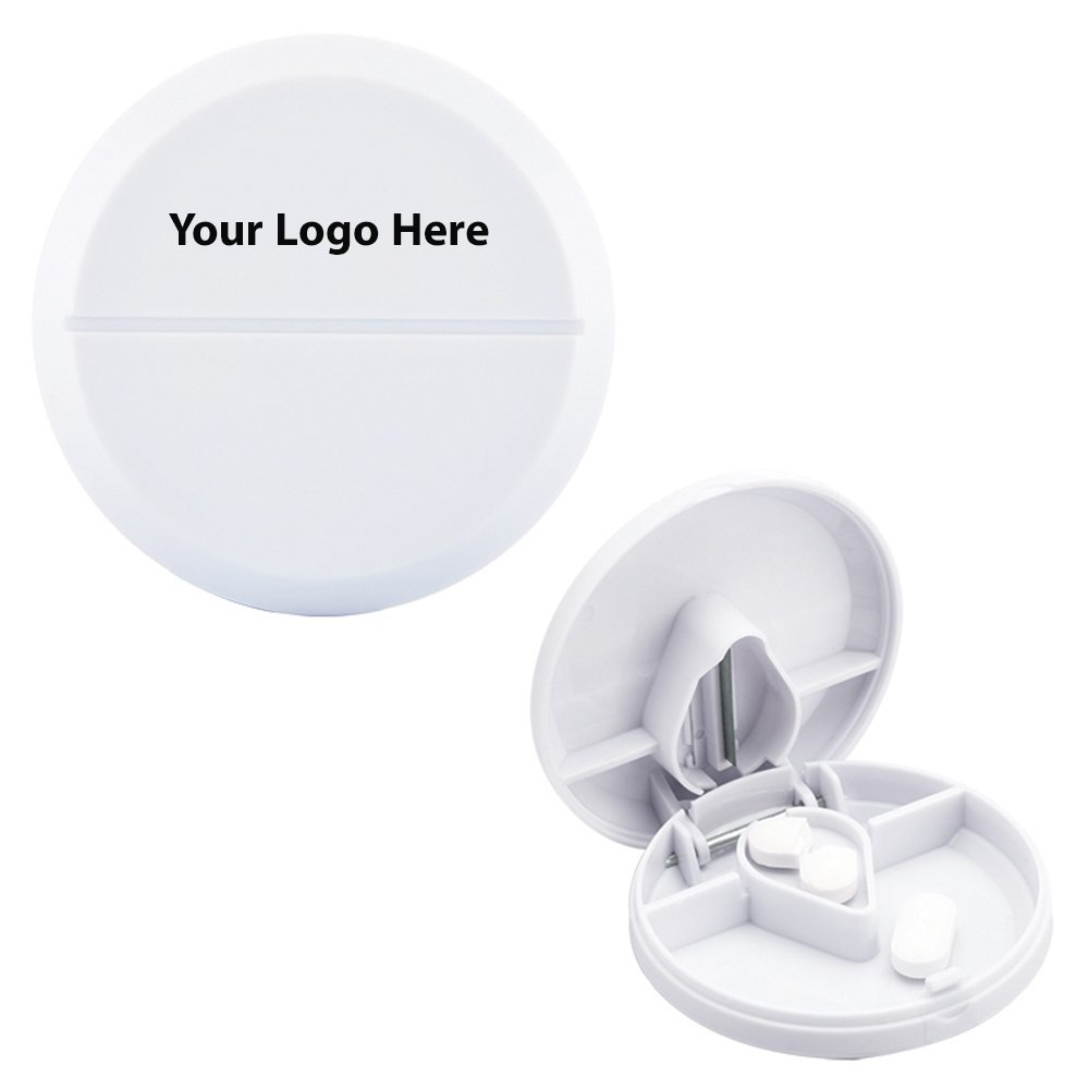 Compact Pill Cutter/Dispenser - 250 Quantity - $1.45 Each - PROMOTIONAL PRODUCT / BULK / BRANDED with YOUR LOGO / CUSTOMIZED