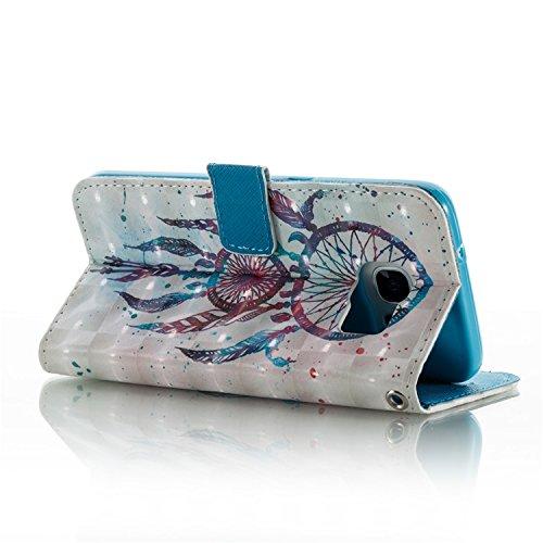 Samsung Galaxy S7 Edge PU Cuero Funda, Vandot 3D Bling Rhinestones Mariposa Shell TPU Inner Bumper Case Funda con Billetera Tapa Holster Cierre Magnético Tarjeta Ranura Carcasa Teléfono Concha Bolsa C 3D PT 08