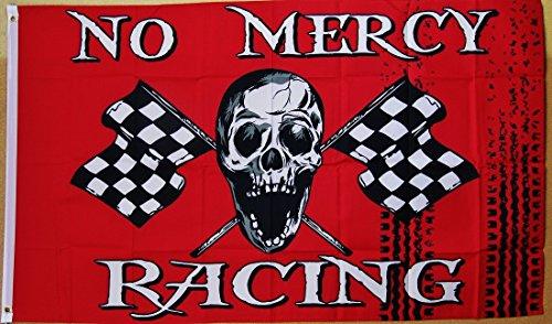 - No Mercy Racing Flag 3' X 5' Indoor Outdoor Pirate Banner