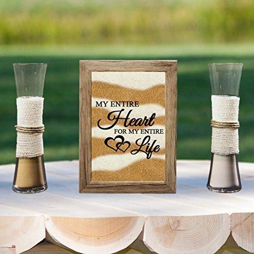 Rustic Barn Wood Wedding Unity Sand Ceremony Frame Set - My Entire Heart for My Entire Life