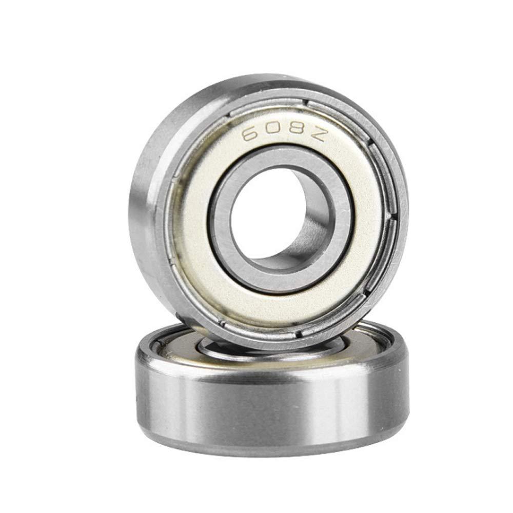 3D Printer 8mm TOP 10pcs 608ZZ Deep Groove Ball Bearing 8mm*22mm*7mm