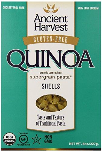 Gluten Free Pasta Shells (Ancient Harvest Gluten-free, Non-Gmo, Quinoa Pasta Shells, 8oz Box (Pack of 3))