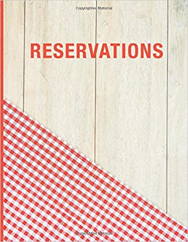 Hostess Table Log Journal Checkered Wood 2019 365 Day Guest Booking Diary Reservations: Reservation Book For Restaurant