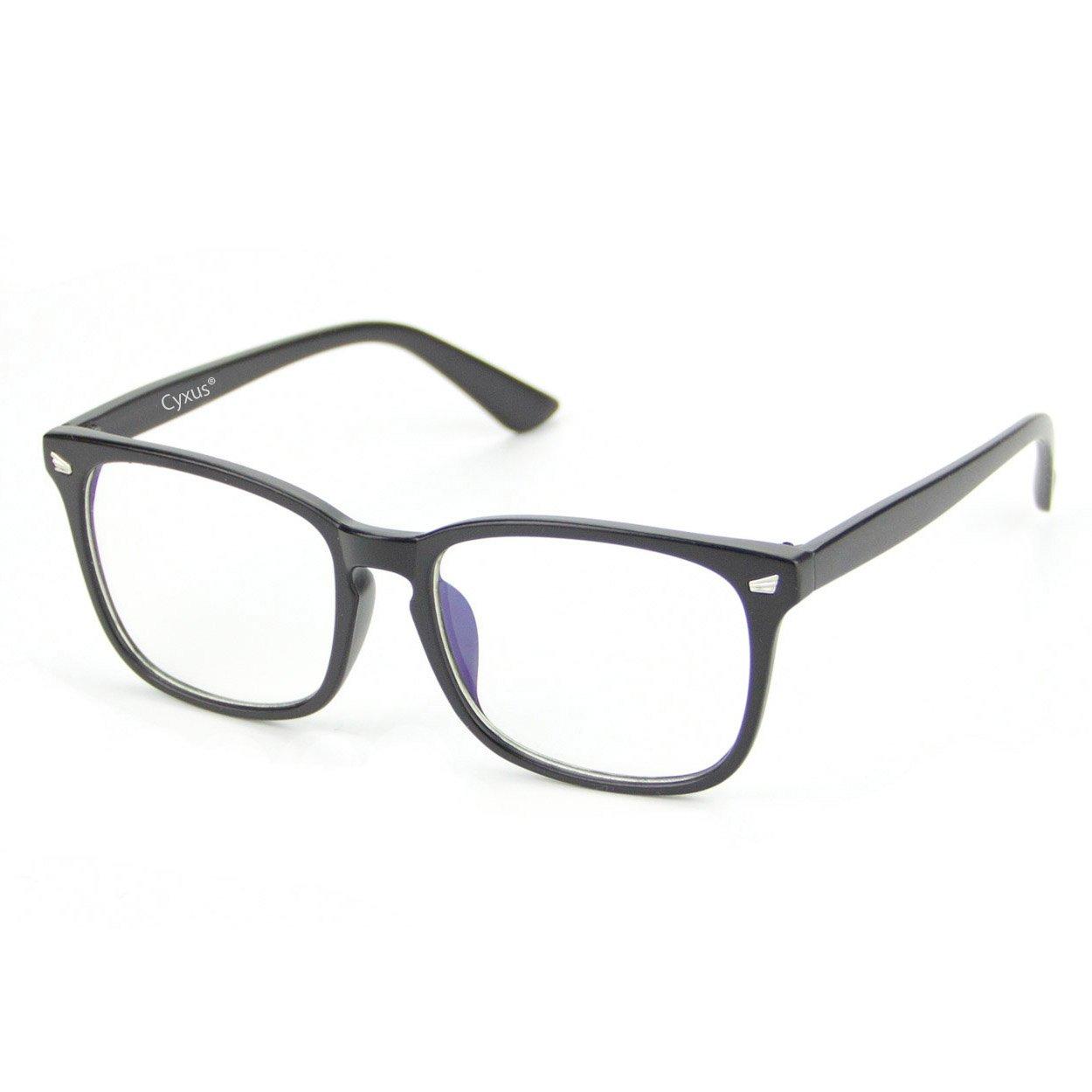 Cyxus Retro Frame Clear Lens, Plain Glasses Matte Black Frame Cyxus Technology Group Ltd