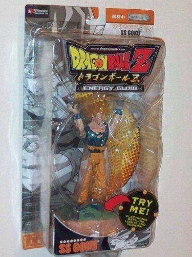 "2003 Dragonball Z 5"" Energy Glow Exclusive Electronic Battling Lights and Sounds Action Figure- SS (Super Saiyan) Goku"