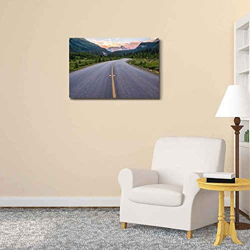Winding Road That Leads to Beautiful Sunset Lit Mountains Home Deoration Wall Decor