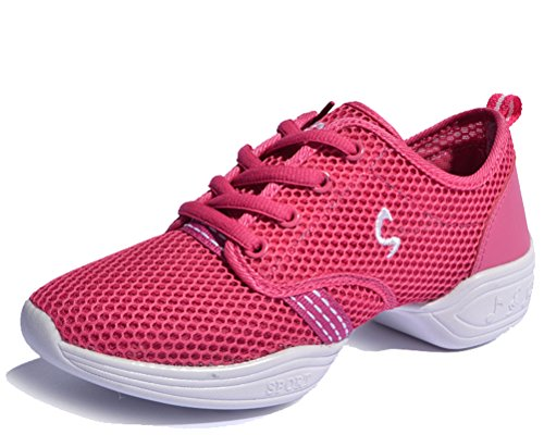 Taille Ultra Rouge 5 Course Chaussures Lger Fitness Running Up Air 2 Rose Femmes Moderne 8 Danse De Lacets Plein Hitime En qZgRSqnx