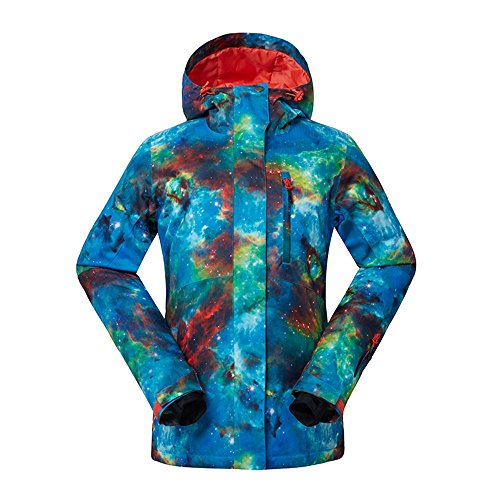 HOTIAN Women's Waterproof Snowboard Ski Jacket Windproof Snow Jacket Below Zero Coat (Below Zero Winter Coats)