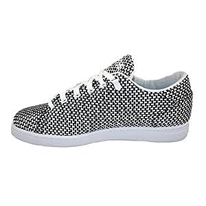 K-Swiss Men's Lozan III TT Woven Sneakers White/Black US 9.5