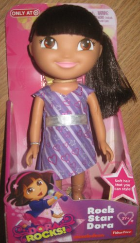 "DORA ROCKS! Rock Star Dora 9"" Poseable Doll 2013"