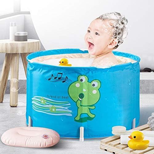 浴槽 バースバレル子供の折りたたみ風呂バレルバースバレル小バスタブ入浴バレルキッズ66x39cmのために子供の浴槽バスタブ 大人用家庭用 (Color : Blue, Size : 66x39cm)