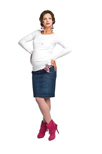 Other Falda de Maternidad Ropa premamá tejido denim Ropa para embarazadas