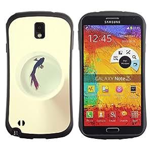 """Hypernova Slim Fit Dual Barniz Protector Caso Case Funda Para Samsung Note 3 [Cárcel Natación de los pescados blancos Libertad Locked""""]"""