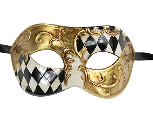 Luxury Mask Men's Vintage Design Masquerade Prom Mardi
