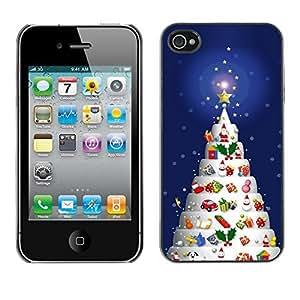 YOYO Slim PC / Aluminium Case Cover Armor Shell Portection //Christmas Holiday Decorated Tree 1151 //Apple Iphone 4