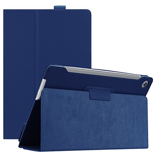 Huawei MediaPad M5 10.8 Case, Ratesell Slim Book Leather Folio Stand Case Cover With Auto Wake / Sleep, Pencil Holder and Multiple Viewing Angles for Huawei MediaPad M5 / M5 Pro 10.8'' 2018 Navy Blue by Ratesell