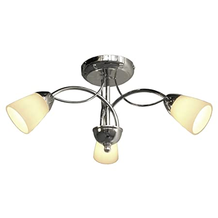 Pagazzi paris 3 light semi flush ceiling light antique brass
