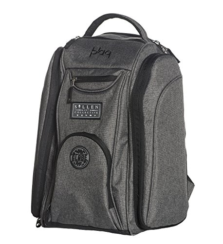 Sullen Blaq Paq Drone Tattoo Travel Bag Gray Globe Edition by Sullen Clothing