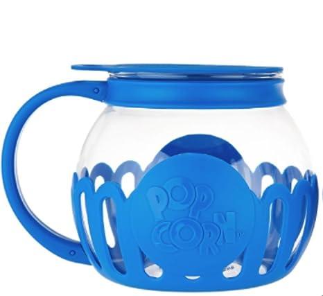 Ecolution Kitchen Extras 1 5-Quart Glass Popcorn Popper -Dishwasher Safe  (BLUE)