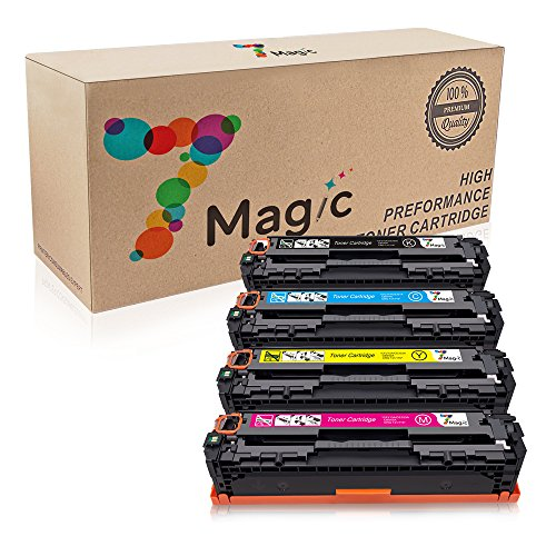 7Magic Replacement for HP 131A CF210A CF210X CF211A CF212A CF213A 131X Toner Cartridge for use with HP LaserJet Pro 200 color M251nw, HP MFP M276nw M276n Printers 1Black 1Cyan 1Yellow 1Magent-4Pack by 7Magic
