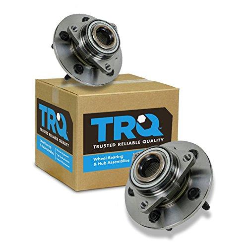 Pickup 1500 Hub (TRQ Front Wheel Hubs & Bearings Pair of 2 for 02-08 Ram 1500 Pickup Truck)
