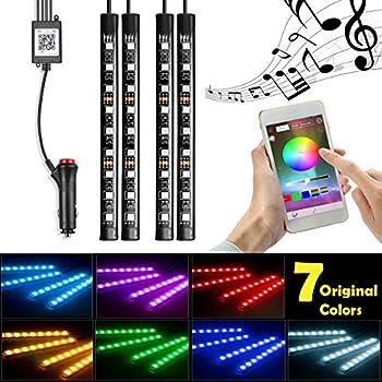 Amazoncom LEDGlow 4pc Blue LED Car Interior Underdash Lighting Kit