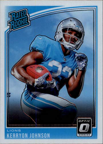 2018 Donruss Optic #170 Kerryon Johnson Rated Rookie RC Rookie Detroit Lions NFL Football Trading Card ()