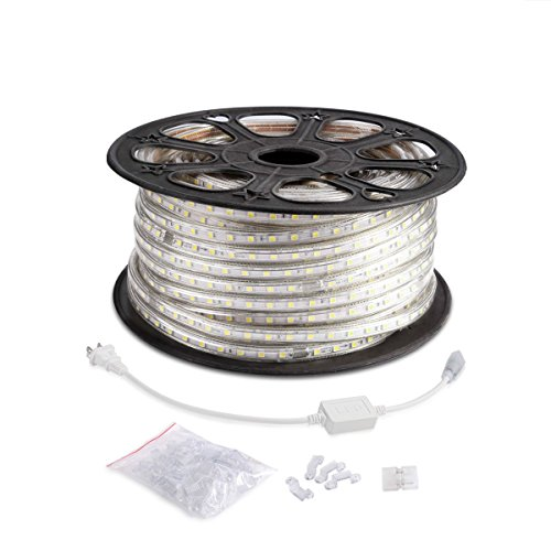 Le 110 120 v ac 164ft flexible led strip lights 6000k daylight previous next aloadofball Image collections