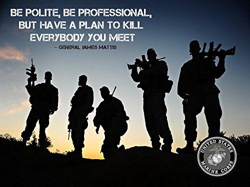 Usmc Marine Corps Poster General James Mattis