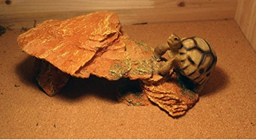 Reptile Rock Hide Cave - World 9.99 Mall Reptile Rock Hide Habitat decoration|Natural,Non-toxic, Made of Resin | Hideout For Small Lizards, Turtles, Reptiles, (House Lizard)