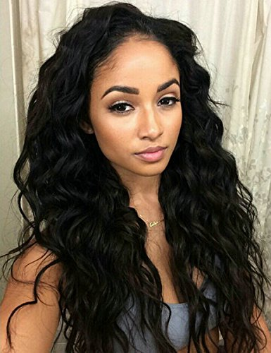 (SINA Peruvian Hair Loose Wave 4 Bundles 20 20 22 22 with 12 inches Silk Base Closure Cheap Human Hair Extensions Color #1B)