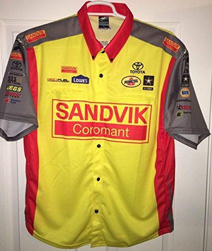 - Medium SHAWN LANGDON NHRA Don Schumacher PIT Crew Shirt Drag RACING TOP FUEL SANDVIK