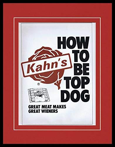 1984 Kahn's Hot Dogs Wieners Framed 11x14 ORIGINAL Advertisement ()