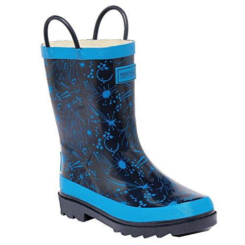 Regatta - Minnow - botas de goma para niño green & grey 44,5 eu, niños, minnow, blue - black Navy / Methyl Blue