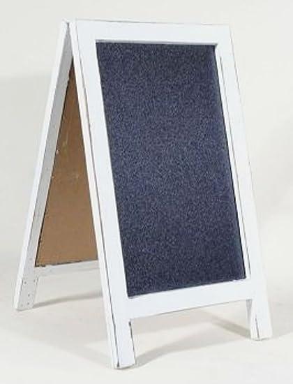 Pizarra con marco blanco de mesa soporte para Bar Restaurant ...