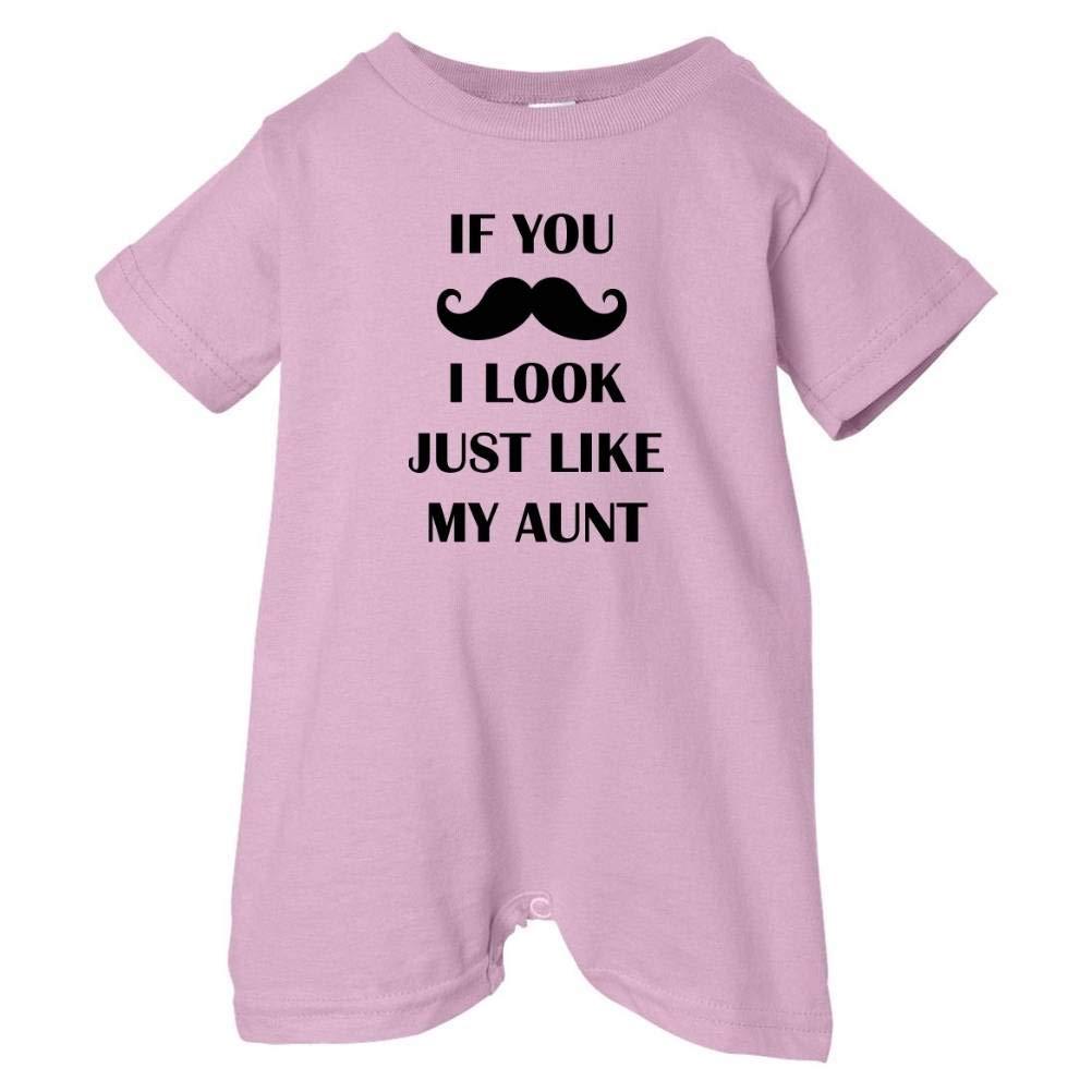 Unisex Baby Mustache Look Like Aunt T-Shirt Romper So Relative