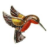 Jana Winkle Retro Vintage Women Enamel Brooch Steampunk Fly Bird Glaze 4038mm Brooch Pins