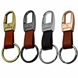 Key Chain,Liangery Luxury Business Zinc Alloy Metal Keychain Key Ring Classic Gift Keyring Holder For Man Women