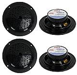 """4) PYLE PLMR41B 4"""" 200W Dual Cone Waterproof Marine Boat Stereo Speakers 2 PAIRS"""