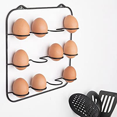 Montado en pared negro Metal Wire granja huevo accesorio de - con ...