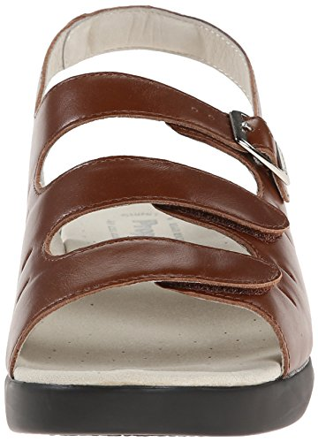 Propet W0001 Teak Breeze Sandal Walker Brown Women's qZw1qFa
