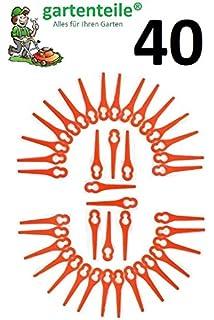 100 Plástico Cuchillo/Cuchillo/plotter Fichas/cuchilla de repuesto para batería cortabordes Garde Line glart 18 Li de Aldi/Hofer: Amazon.es: Jardín