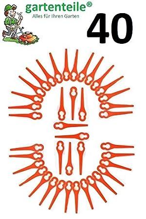 40 Cuchilla de repuesto apto para Flora Best batería ...