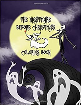 The Nightmare Before Christmas Coloring Book Christmas Coloring