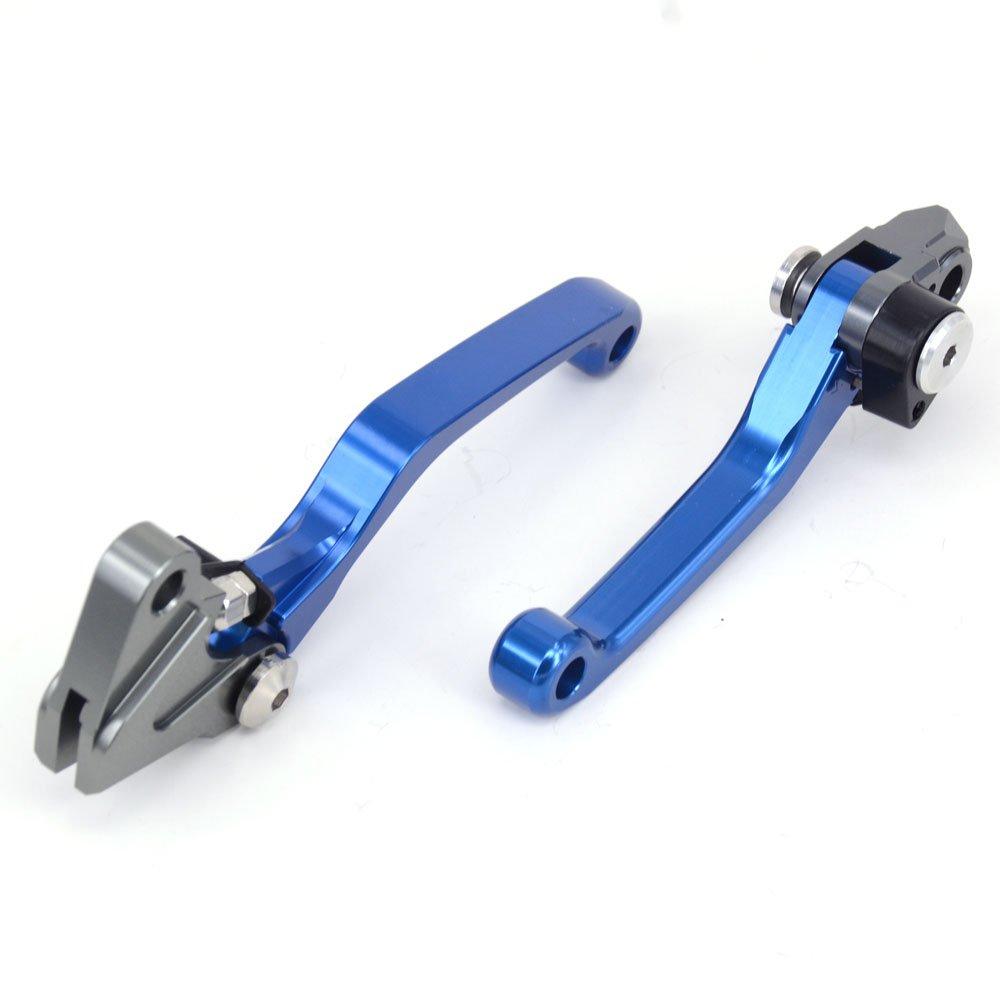 JFGRACING Billet Pivot Leva freno frizione pieghevole per Honda CR80R CR85R 98-07 CRF150R 07-17 CR125R CR250R 92-03 CRF450R 02-03 Rosso